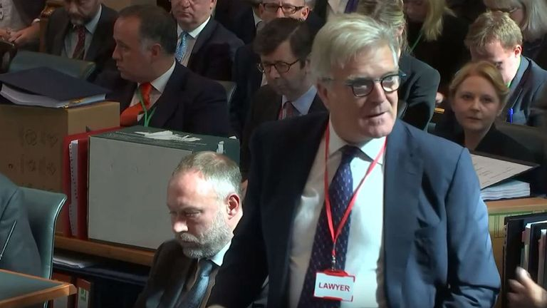 Lord Garnier QC, who has been representing Sir John Major