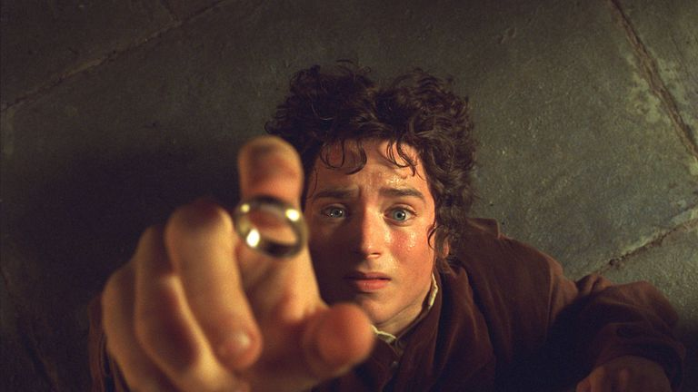 Elijah Wood in Lord Of The Rings - The Fellowship Of The Ring in 2001