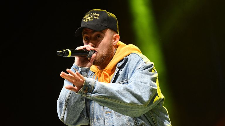 Rapper Mac Miller performs onstage during the Smokers Club Festival at The Queen Mary on April 29, 2018 in Long Beach