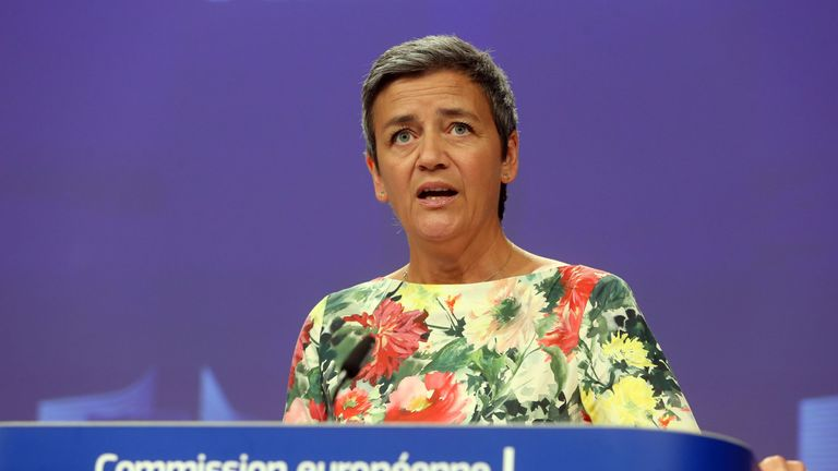 Margrethe Vestager's re-appointment is expected to spark negative reaction from the US