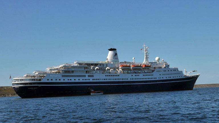 The couple were travelling on the cruise liner MC Marco Polo. Pic: Cruise and Maritime Voyages