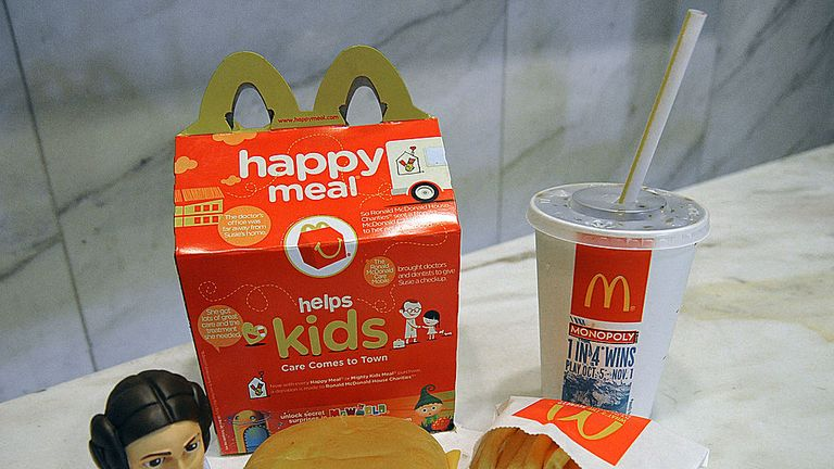 McDonalds will have the option to swap out the Happy Meal toy for fruit or a book