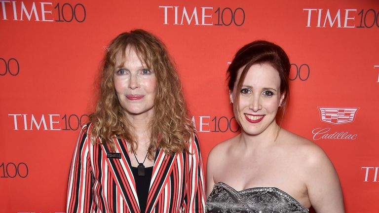 Mia Farrow and Dylan Farrow