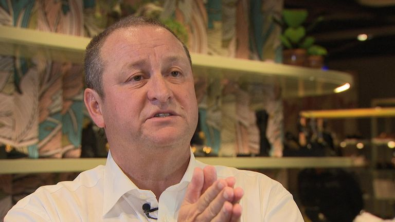 Sports Direct's founder and CEO Mike Ashley spoke to Sky News about the various challenges the retail group is currently facing.