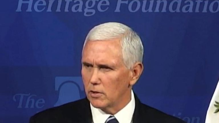 Mike Pence reiterates Donald Trumps words on Iran