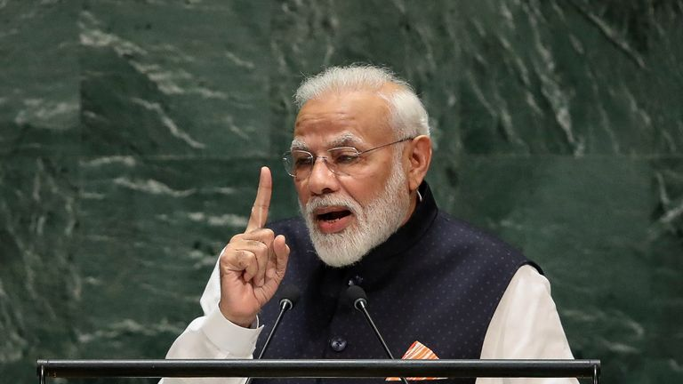 Narendra Modi addresses UN