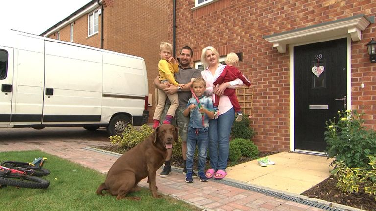 Vicky and Adam Walker are living in social housing with their family