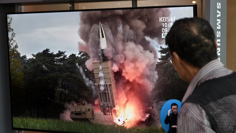 South Korea say the projectiles were fired from the South Phyongan province in the North