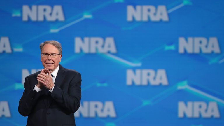 Wayne LaPierre says the lawsuit will 'send a message to those who attach the NRA'
