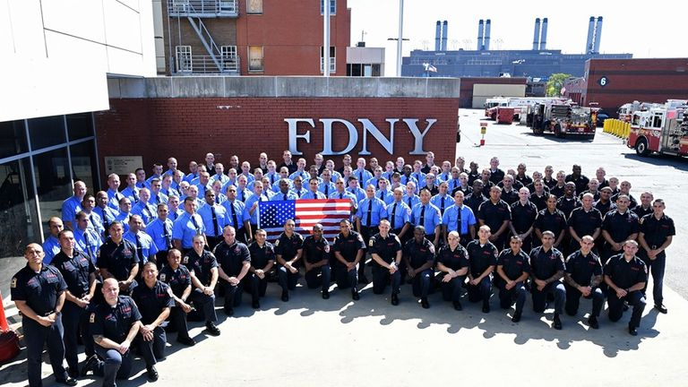 301 people graduated into the service. Pic: NYFD