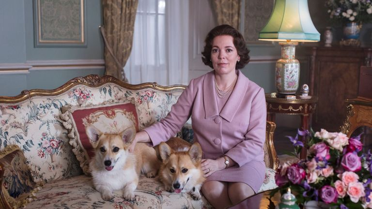 Olivia Colman as the Queen in The Crown. Pic: Sophie Mutevelian