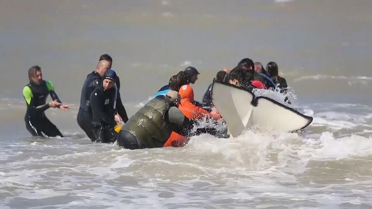 Rescue workers and volunteers have saved six of seven orcas that became stranded on an Argentine beach.
