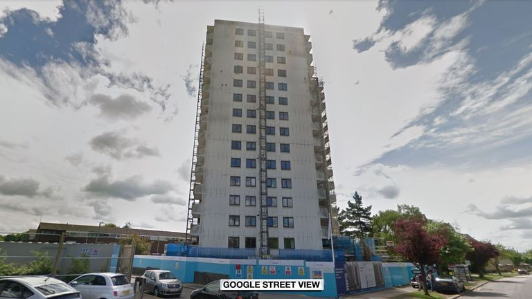 A man died after falling from an upper floor at Foresters Tower