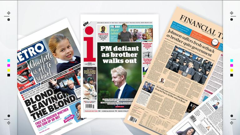 Friday's national newspaper front pages | UK News | Sky News