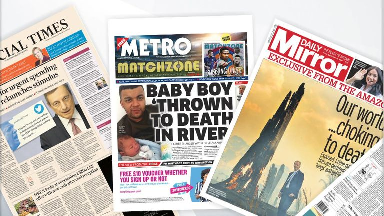 Friday's papers
