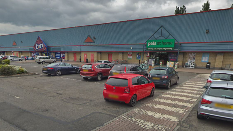 The fire happened at Perth's St Catherine's retail park