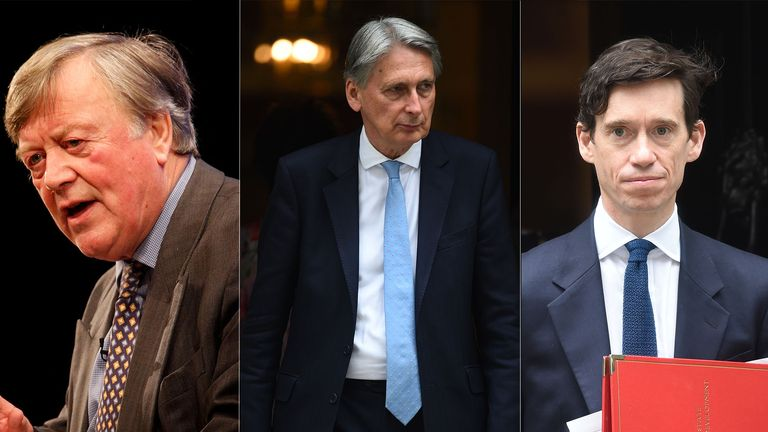 Tory stalwarts Ken Clarke, Philip Hammond and Rory Stewart have all been sacked from the party