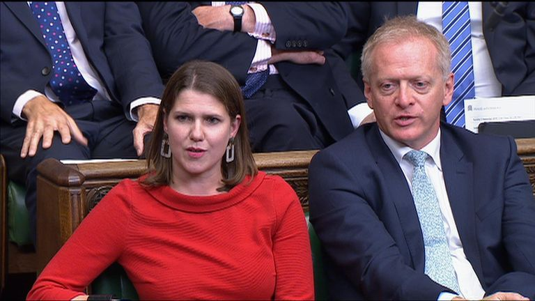 Phillip Lee defected from the Tories to join Lib Dem leader Jo Swinson