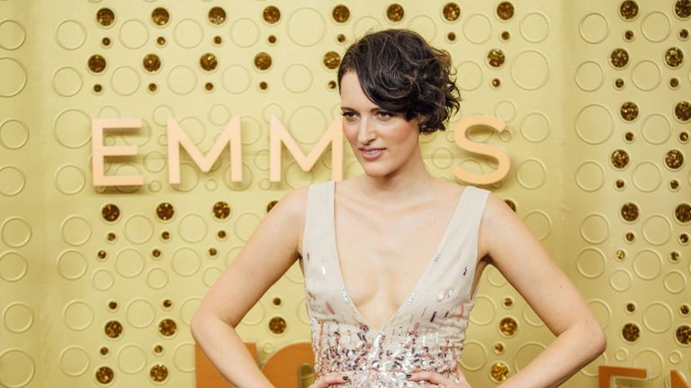 LOS ANGELES, CALIFORNIA - SEPTEMBER 22: (EDITORS NOTE: Image has been edited using digital filters) Phoebe Waller-Bridge arrives at the 71st Emmy Awards at Microsoft Theater on September 22, 2019 in Los Angeles, California. (Photo by Emma McIntyre/Getty Images)
