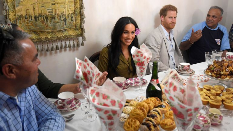 Harry and Meghan visit local residents in the Bo Kaap area of Cape Town to mark Heritage Day