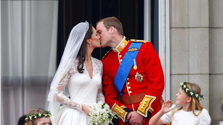Agricola followed Prince William and Duchess Kate on their wedding day