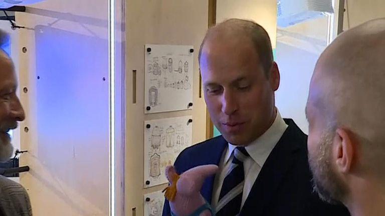 Prince William receives a Clanger on an engagement