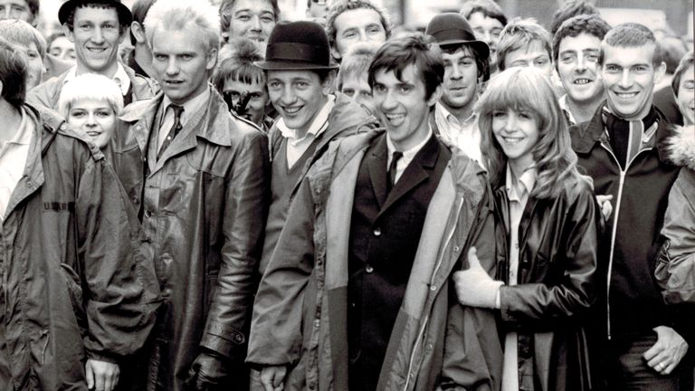 Phil Daniels, Leslie Ash and Sting in Quadrophenia, 1979