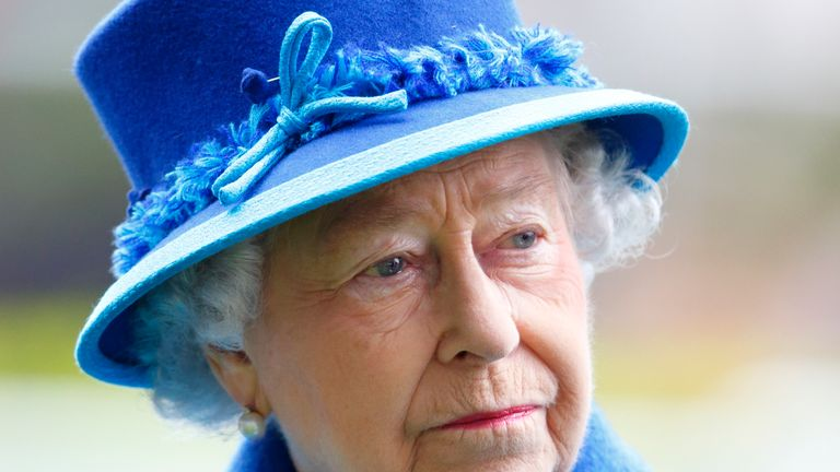 ASCOT, UNITED KINGDOM - OCTOBER 18: (EMBARGOED FOR PUBLICATION IN UK NEWSPAPERS UNTIL 48 HOURS AFTER CREATE DATE AND TIME) Queen Elizabeth II attends the QIPCO British Champions Day at Ascot Racecourse on October 18, 2014 in Ascot, England. (Photo by Max Mumby/Indigo/Getty Images)