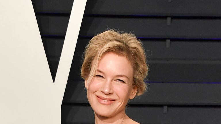Renee Zellweger at the 2019 Vanity Fair Oscar Party