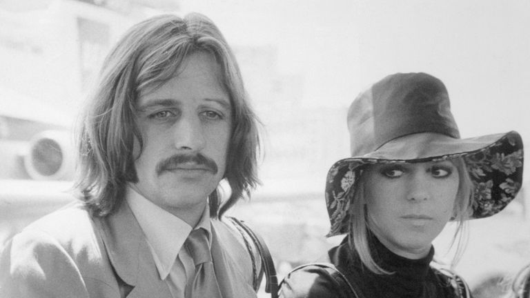 Ringo Starr, famed drummer of The Beatles, and his wife, Maureen, June 1969