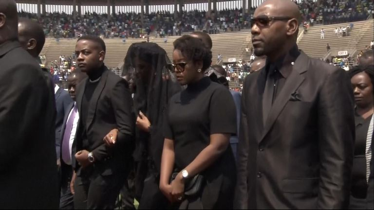 Mourners attend Mugabe's state funeral
