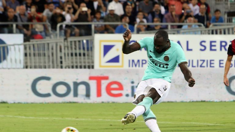Romelu Lukaku was racially abused before and after his penalty, the winner in Inter's 2-1 win