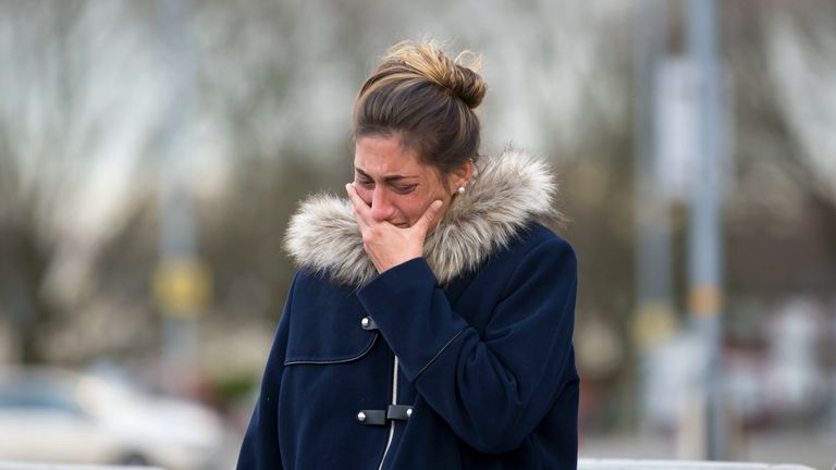 Romina Sala, sister of Emiliano Sala, pictured while visiting 