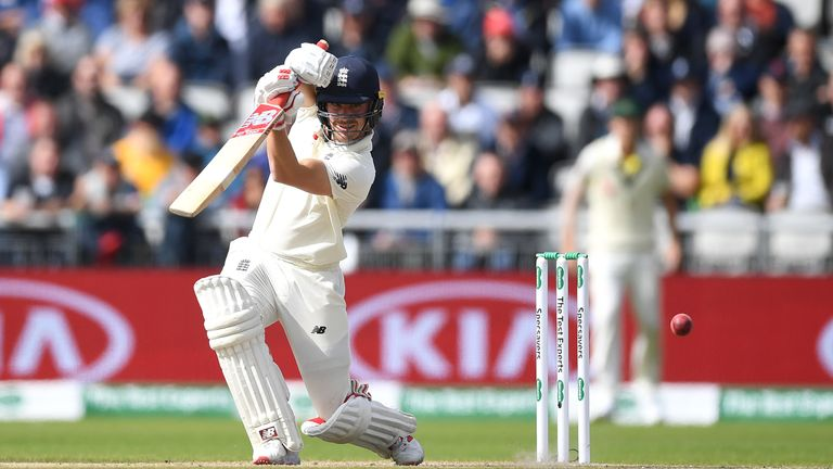 Rory Burns of England bats during day three of the 4th Specsavers Ashes Test between England and Australia at Old Trafford on September 06, 2019 in Manchester, England. (Photo by Gareth Copley/Getty Images)