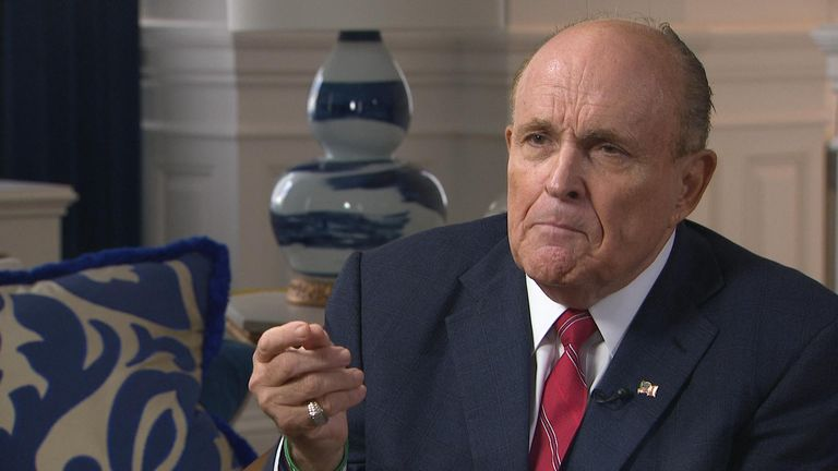Rudy Giuliani insists there has been no wrong-doing
