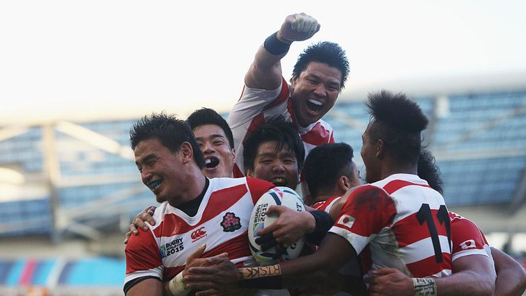 Massive underdogs Japan shocked the rugby world - and the Springboks - in 2015