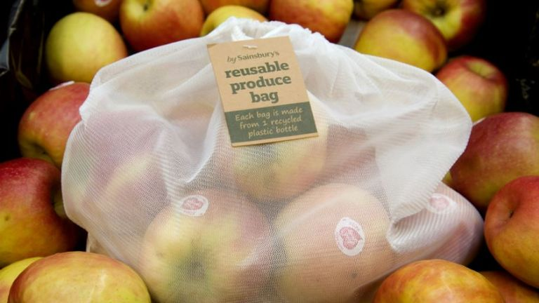 Sainsbury's has pledged to halve the amount of plastic used in its stores by 2025