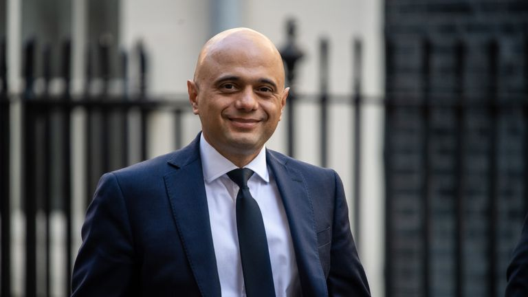 Chancellor of the Exchequer, Sajid Javid, arrives at 10 Downing Street on September 2, 2019