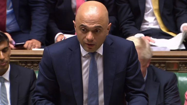 Sajid Javid delivers his spending review to MPs