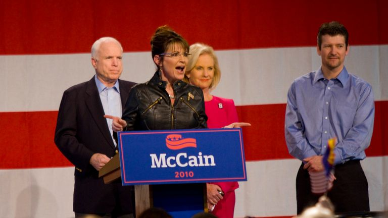 Sarah Palin was picked as John McCain's running partner in the 2008 US presidential election