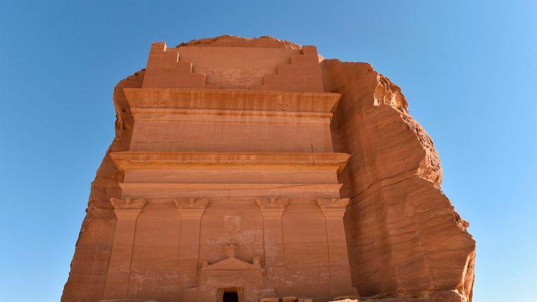 The Qasr al-Farid tomb (The Lonely Castle) in Madain Saleh, a UNESCO World Heritage site