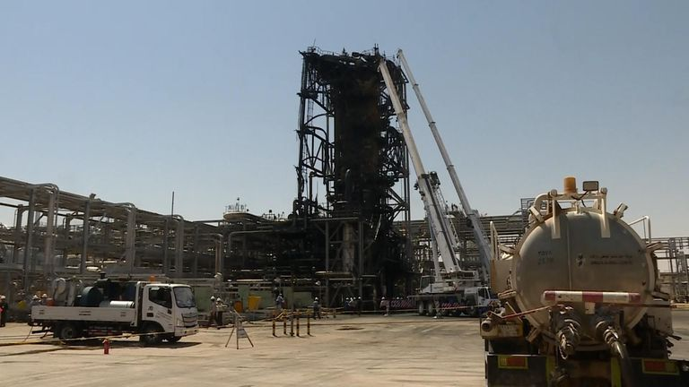 Visiting the bombed Saudi oil plant