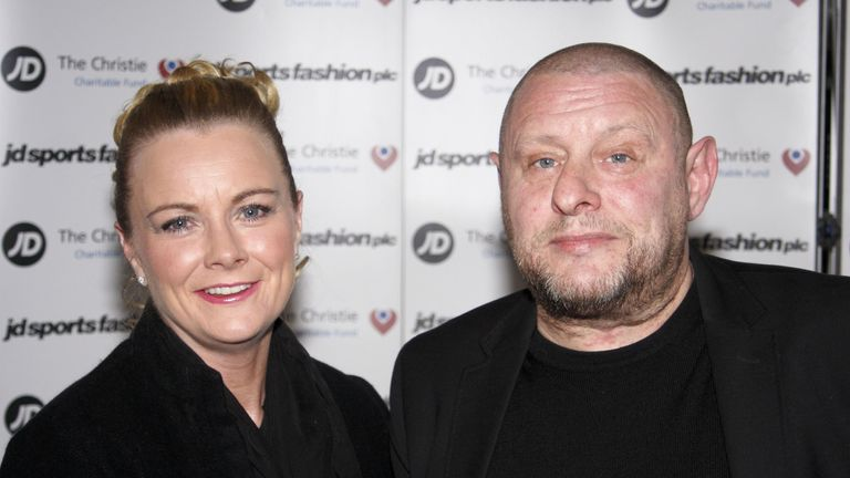 Shaun Ryder with wife Joanne in 2014