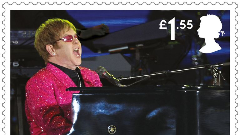 Sir Elton's glittering performances are celebration in the new stamp selection