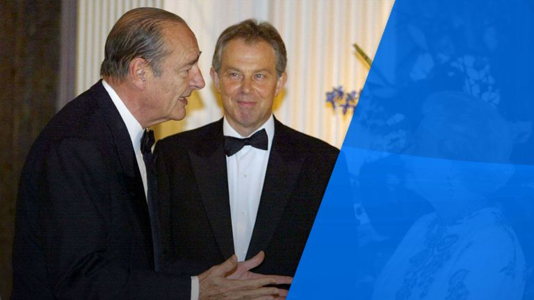 Chirac and Tony Blair had a mutual respect, but the Frenchman was not afraid to argue with the then British PM