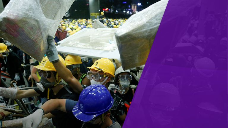 China's repression has led to weeks of pro-democracy protests in Hong Kong