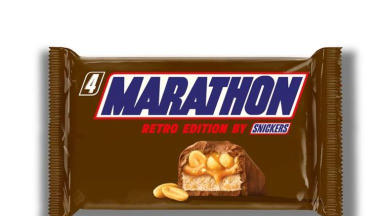 Snickers bar to return to its old Marathon name to mark 30 years