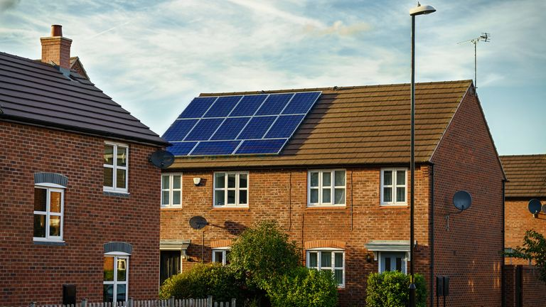 Many households have equipped their property with solar panels