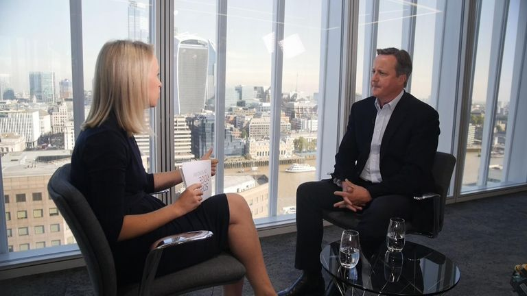 Sophy Ridge and David Cameron