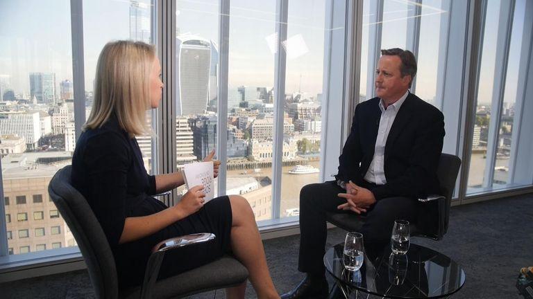 Sophy Ridge and David Cameron